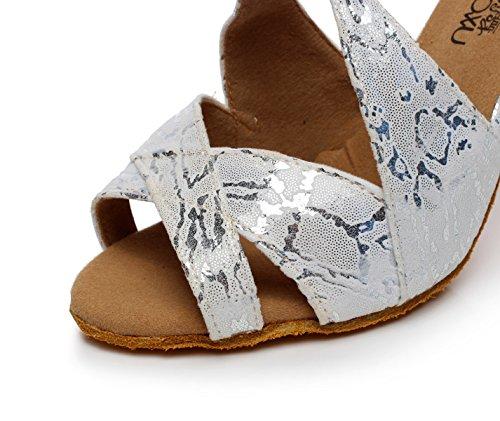 EU39 Thé Sandales UK6 Salsa Grey Moderne heeled8 Latine Danse de Chaussures Our40 Hauts Jazz Femme pour 5cm Samba Tango Talons JSHOE Chaussures 8O4RqR