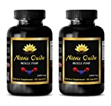 Increase muscle mass - NITRIC OXIDE MUSCLE PUMP 2400Mg - Nitric oxide cardio boost - 2 Bottles 180 Capsules