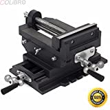 COLIBROX--6'' Cross Slide Drill Press Vise Metal Milling Vises Holder Clamping Bench Mount. Cross - slide design provides two-axis precision adjustment for perfect bits placement.