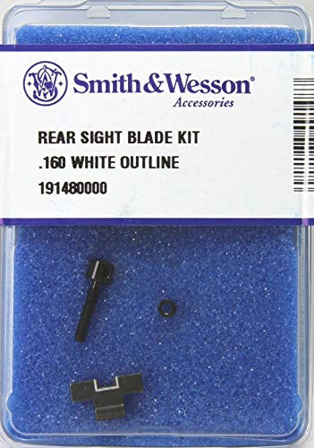 - Smith & Wesson Rear Sight Blade Kit with .160 White Outline Blade