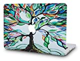 KEC MacBook Pro 13' Retina Case (2015) Cover Plastic Hard Shell Rubberized A1502/A1425 (Colorful Tree)
