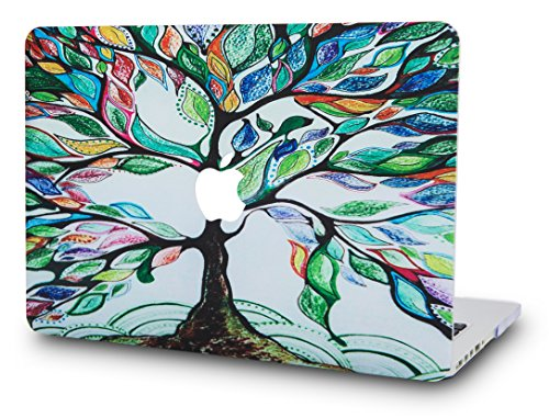 KEC Laptop Case for MacBook Air 13 Plastic Case Hard Shell Cover A1466/A1369 (Not Compatible 2018 Mac Air 13 Retina A1932) (Colorful Tree)