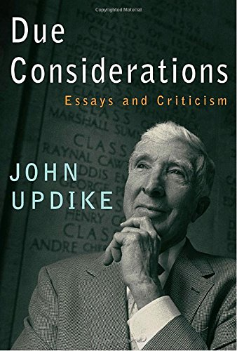 john updikes personal essays John updike: john updike  john updike, in full john hoyer updike,  gore vidal brought together his briskly readable essays of four decades—critical, personal,.