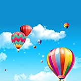 Removable Creative 3D Hot air Balloon Aircraft and Smile Clouds Wall Decals