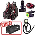 Sopras Sub Advanced Open Water Package M-l Speleo 1500 Bcd Regulator Octo Console Gauge Free Travel Gear Bag Scuba Diving Bundle Kit