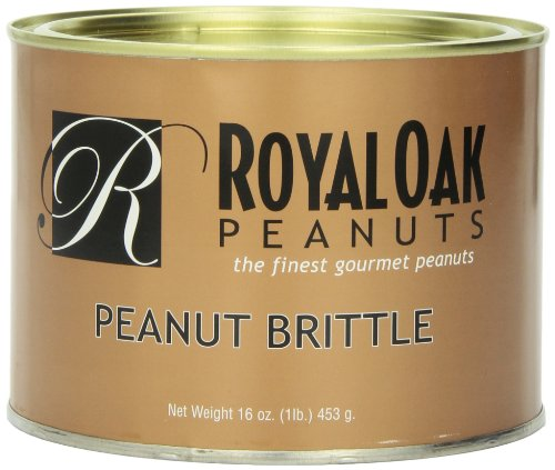 Royal Oak Gourmet Peanut Brittle, 16 Ounces Tin Peanut Brittle Tin
