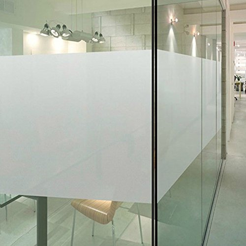 Color Your World Plastic Static Cling Window Film Adhesive Free White Frosted Privacy Window Covering Film for Shower Bathroom Office,17.7 x 78.7 Inches(45CM by (Translucent Vinyl)