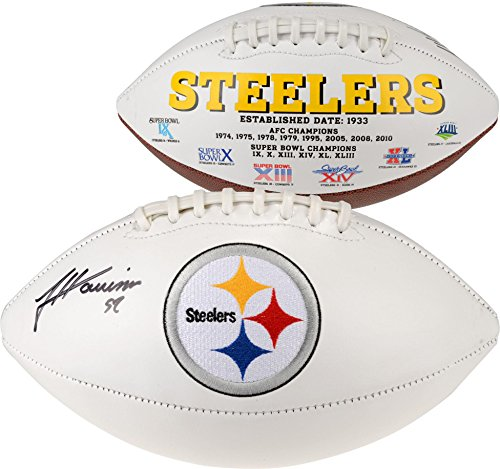 James Harrison Pittsburgh Steelers Autographed White Panel Football - Fanatics Authentic Certified - Autographed Footballs