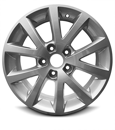 Road Ready Car Wheel For 2010-2016 Volkswagen Jetta 16 Inch 5 Lug Gray Aluminum Rim Fits R16 Tire - Exact OEM Replacement - Full-Size -