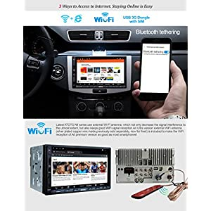 ATOTO A6 Double Din Android Car Navigation Stereo Dual Bluetooth - Standard A6Y2710SB 1G/16G Car Entertainment Multimedia Radio,WiFi/BT Tethering Internet,Support 256G SD &More