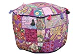 Marudhara Fashion Large Bohemian Pouf Ottoman Cover Home Decorative Footstool Round Floor Pillow Cover Ottoman Living Room Indian Pouf Cover Throw Christmas Gifts/Special New Year By
