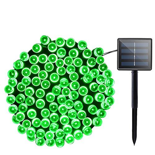 Lalapao Solar Lights Halloween Outdoor Decor 72ft 200 LED 8 Mode Solar Powered String Lights Waterproof for Indoor Garden Party Patio Home Wedding Lawn Christmas Tree Decorations (Green) -