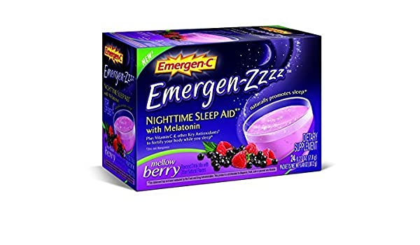 Emergen-C Emergen-Zzzz Nighttime Sleep Aid, Mellow Berry, 24 Packets per Box (Pack of 2) by Pfizer Consumer Healthcare: Amazon.es: Salud y cuidado personal