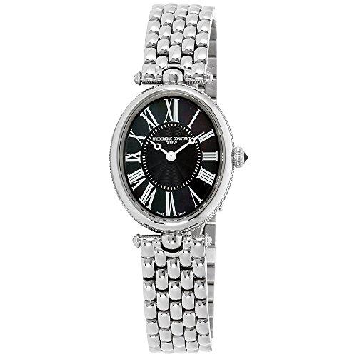 Frederique Constant Women's Classics Art Deco 30mm Steel Bracelet & Case Quartz Analog Watch FC-200MPB2V6B ()