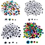Googly Eyes - 500-Pack Adhesive Wiggle Eyes, Moving Eyes, Art Craft Supplies, for DIY, School Projects, Toy Accessory, and Scrapbooking, Doll Making, Decoration, Assorted Designs, 4 Assorted Sizes