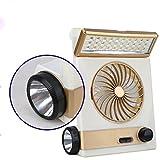 Gazelle Trading Multi-functional Solar Cooling Table Fans Eye-Care LED Table Lamp Flashlight Solar Panel Adaptor Plug Home Use Camping
