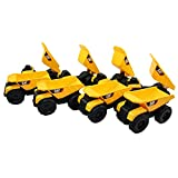 CAT Mini Machine Caterpillar Construction Toy Bundle Set of 8 Dump Trucks individually Packaged Free-Wheeling Vehicles Great As Cake Toppers or Party Favors for Kids