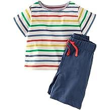 Bleubell Teddlor Boys Shorts Pant Set Strip Fun Summer Jersey Play Set