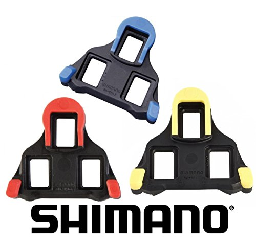 Shimano Guantes placas SPD SL Cleat SH + F26 Pegatinas SH-10 fixe mode rot - SH-11 not fixed (3°) gelb
