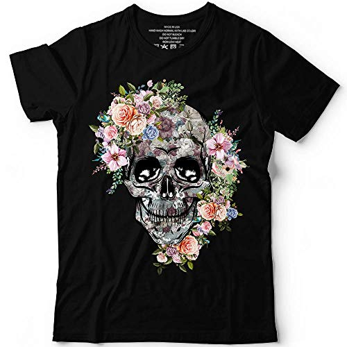 Skull Floral Vintage Flower Halloween Costume Holiday Customized Handmade T-Shirt Hoodie/Long Sleeve/Tank Top/Sweatshirt]()