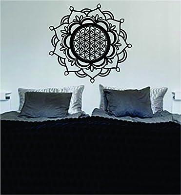 Mandala Flower of Life Sacred Geometry Art Wall Decal Sticker Buddha Absolute Brahman Hindu