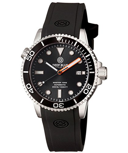 Orange Dial Automatic Divers (Deep Blue MASTER 1000 DIVER Automatic 44mm watch 330m WR Black dial Orange Hand)