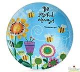 """Be Joyful Always"" Bone China 8"" Plate"