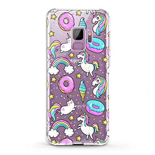 Lex Altern TPU Case for Samsung Galaxy J7 MAX Prime J6 Plus J5 J4 J3 Unicorn Cute Pink Clear Donut Cover Silicone Food Durable Print Protective Kid Girl Design Transparent Women Teen Blue Ice Cream]()