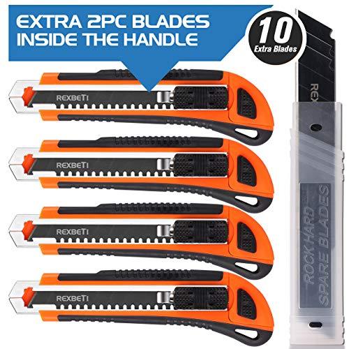 REXBETI 4-Pack Utility Knife
