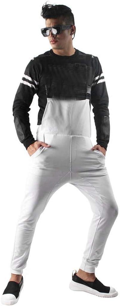 Pantalón Chandal Hombre Mono Vaquero Mezclilla Jumpsuit Casual ...