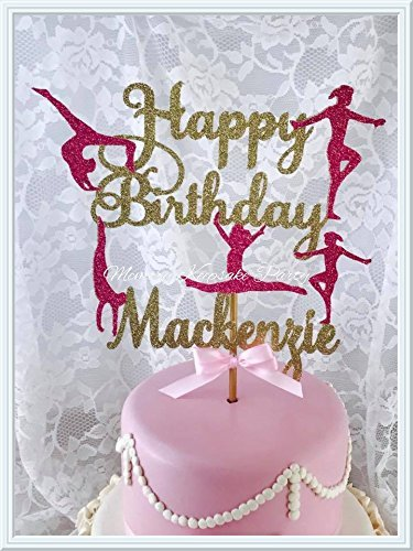 2e908a7756f23 Gymnastics Cake Topper Birthday Party