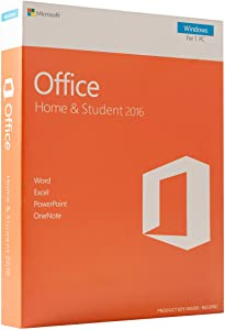 Office 2016 Home and Student | for 1 PC only | Excel - Word - PowerPoint - OneNote