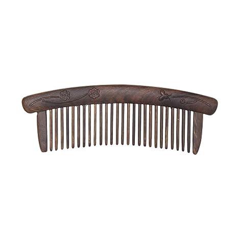 CYLZF Bigote peine dentado de madera peinado de pelo peinado ...