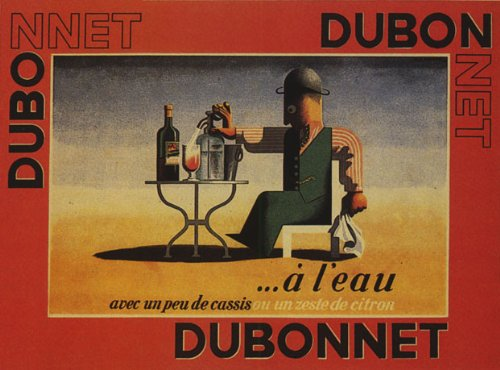 DUBONNET FRENCH APERITIF COCKTAIL WATER CASSIS OR LEMON ZEST 16