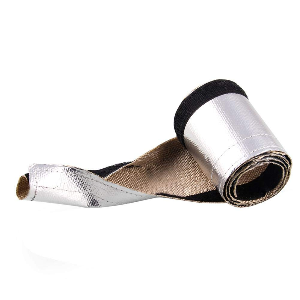 Lucky-all star Automobile Universal Exhaust Pipe Thermal Insulation Cloth High Temperature Resistant Aluminum Foil Exhaust Pipe Insulation Tape