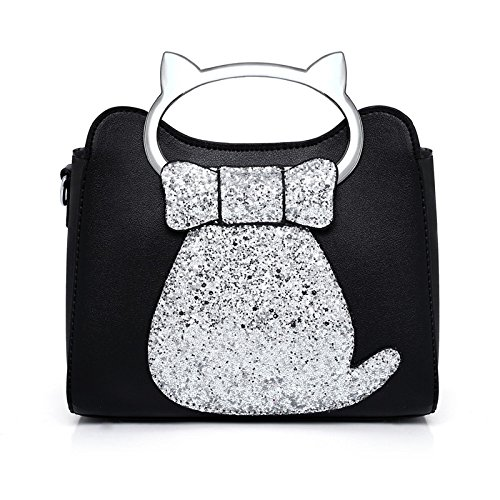 Xiaolongy The Korean Cat New Female Version Ladies Pink Bag Spring Bag Wild Shoulder 23 Of Messenger Summer 18 Silver Tide And Bag Fashion Bag 12cm rqrFvwx