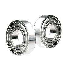 2x 696-ZZ Ball Bearing 6mm x 15mm x 5mm Double Shielded Rubber Seal NEW 2Z
