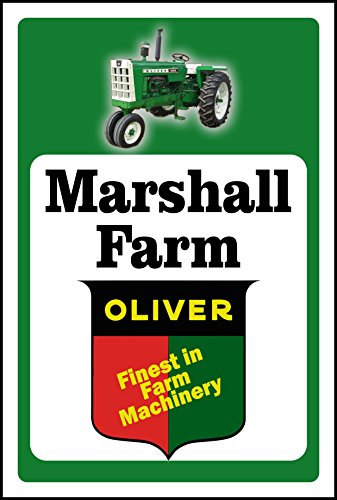 Anchor Graphix Oliver Tractor Sign Add Custom Name (10x14) (Oliver Tractor Toys)