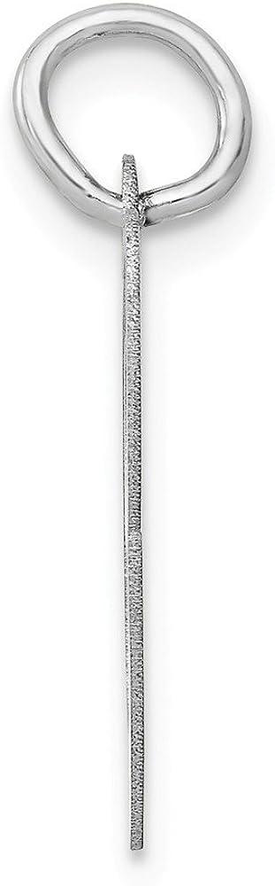 20mm x 14mm Solid 14k White Gold Medium Unique Script Initial Letter C Alphabet Charm