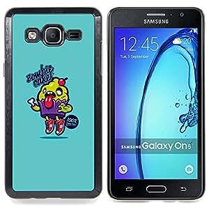 Stuss Case / Funda Carcasa protectora - Azul de la magdalena de Alimentos Cocina texto - Samsung Galaxy On5 O5