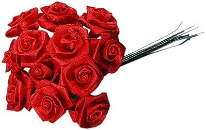 Amazon Com Darice Vl6425 Ribbon Rose 72 Piece Pick 1 Inch Red