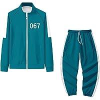 Kombinezon do gry kalmary 2/3 szt. dres chłopięcy dziewczęta bluzy z kapturem bluza zielony zestaw dla dzieci 5-12 lat