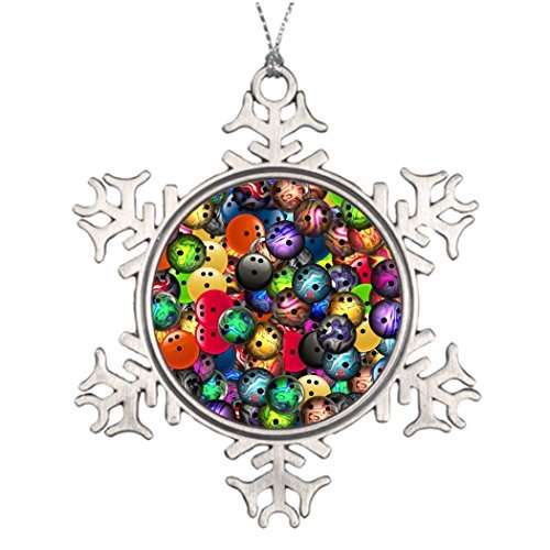 (Metal Ornaments Tree Branch Decoration Colorful Bowling Balls Collage Christmas Snowflake Ornament Ideas Retro Christmas Decorations)