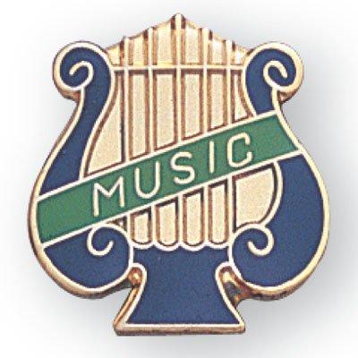 Music Lyre Lapel Pin - Pack of - Music Pin Lapel