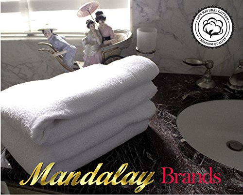 Luxury Hotel & Spa set of 6-piece Towels, 750GSM,100% Long Staple Combed Cotton. Premium set of 2 bath towels, 2 hand towels, 2 washcloths, Color (White) by Mandalay Brands (Image #9)