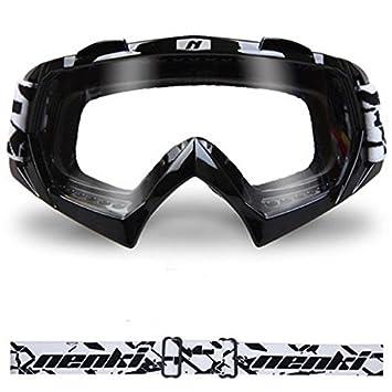 Moppi Windprooof motocicleta anteojos del casco de motocross borde sólido a prueba de polvo para nenki