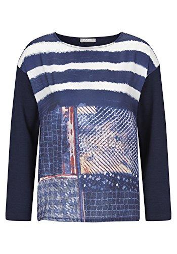 Langarmshirt mit Muster und Rundhalsausschnitt