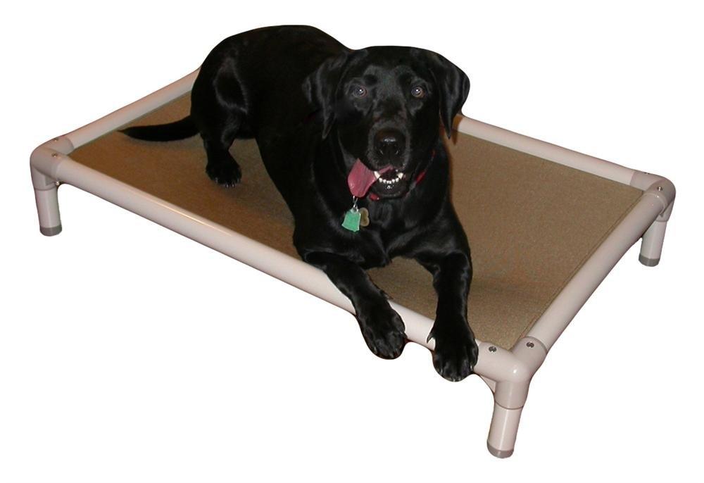 Kuranda Almond PVC Chewproof Dog Bed  XL (44x27)  Ballistic Nylon  Smoke by Kuranda