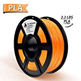 PLA Filament, 3D Hero PLA Filament 1.75mm,PLA 3D Printer Filament, Dimensional Accuracy +/- 0.02 mm, 2.2 LBS(1KG),1.75mm Filament,Orange