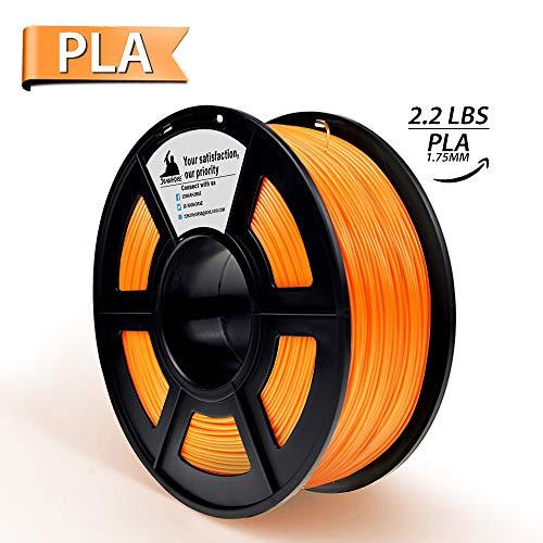 PLA Filament, 3D Hero PLA Filament 1.75mm,PLA 3D Printer Filament, Dimensional Accuracy +/- 0.02 mm, 2.2 LBS(1KG),1.75mm Filament,Orange